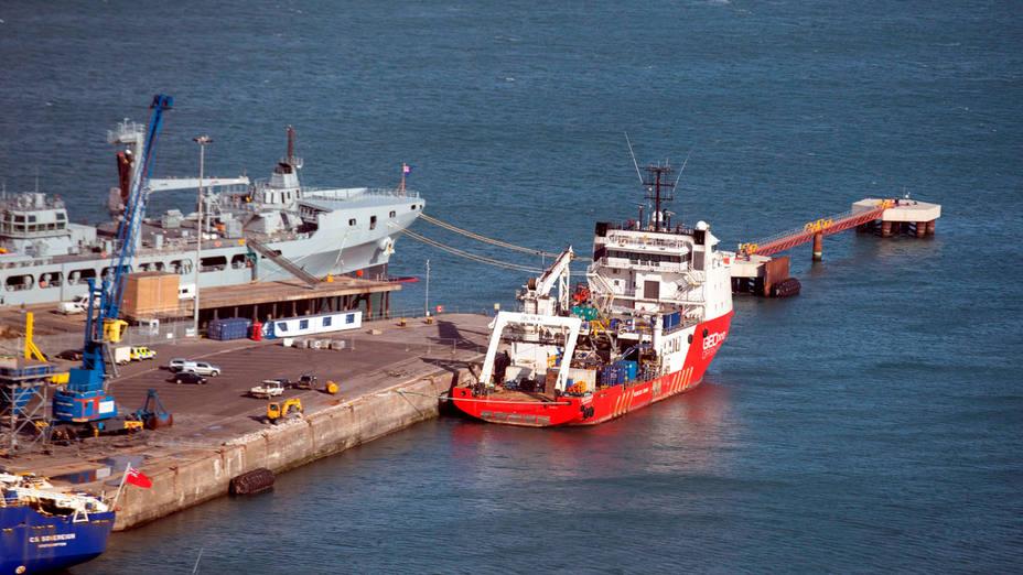 Imagen del buque que buscó a Emiliano Sala en el Canal de la Mancha. CORDONPRESS