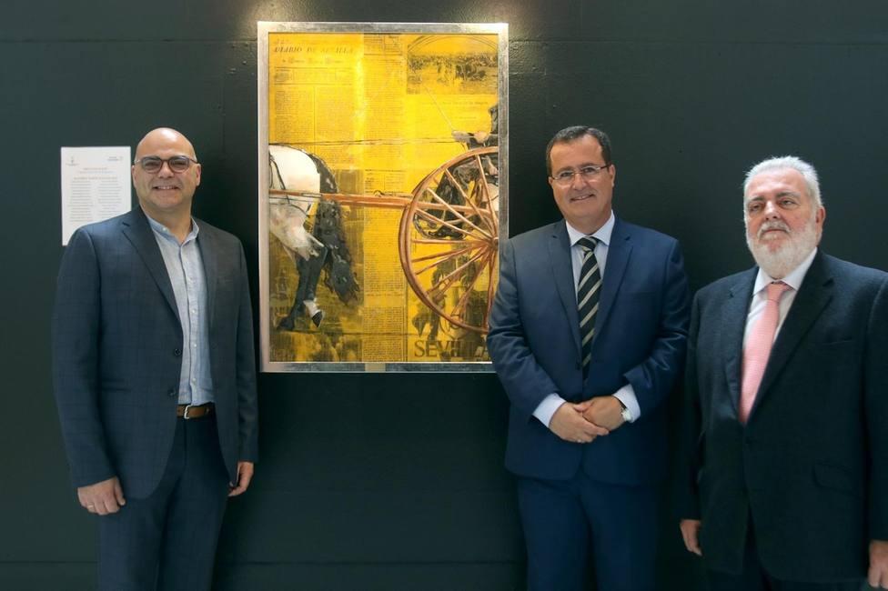 El presidente y vicepresidente del Real Club de Enganches de Andalucía, Jesús Contreras y José Juan Morales,