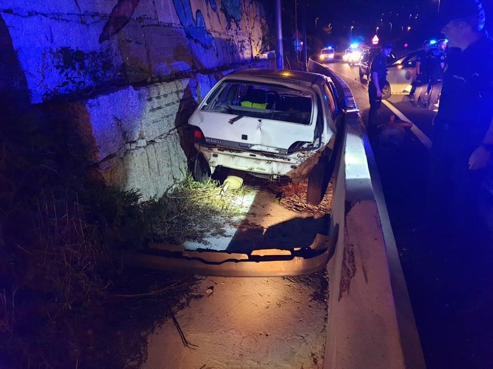 Detenido en Vigo un conductor tras una espectacular fuga en la que llegó a circular 14 kilómetros en sentido contrario