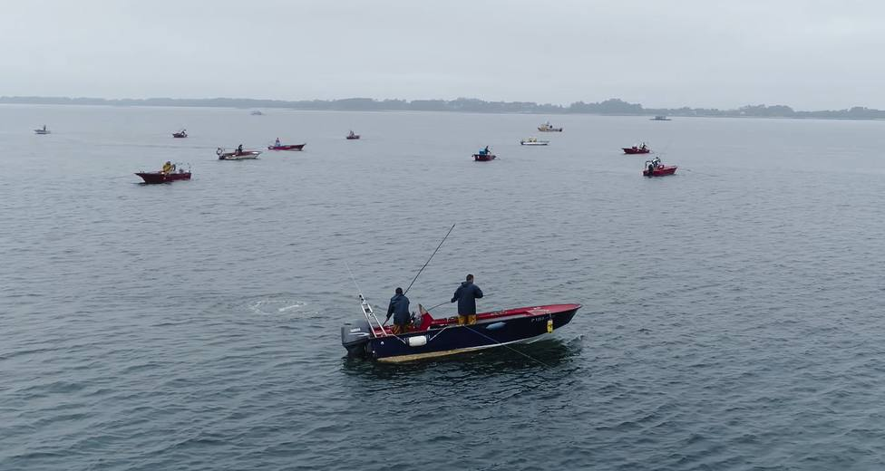 Uno de las imágenes que recoge el vídeo que destaca la labor de la gente del mar - FOTO: Xunta