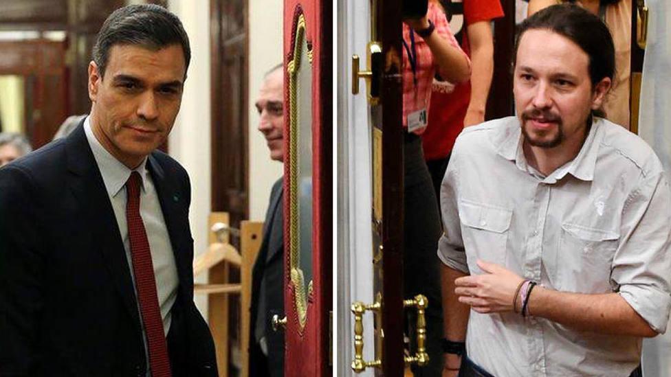 El sonrojante y escandaloso cambio de discurso de Sánchez e Iglesias sobre las 'puertas giratorias'