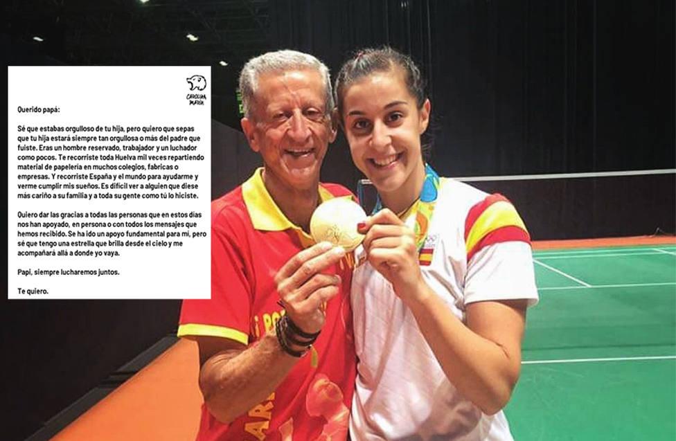 Carolina Marína y su padre