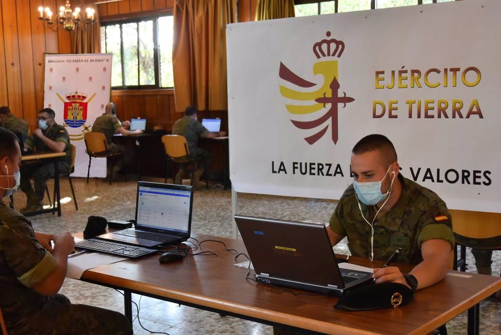 La BRI X, primera unidad del Ejército de Tierra que realiza la labor de rastreo en Andalucía