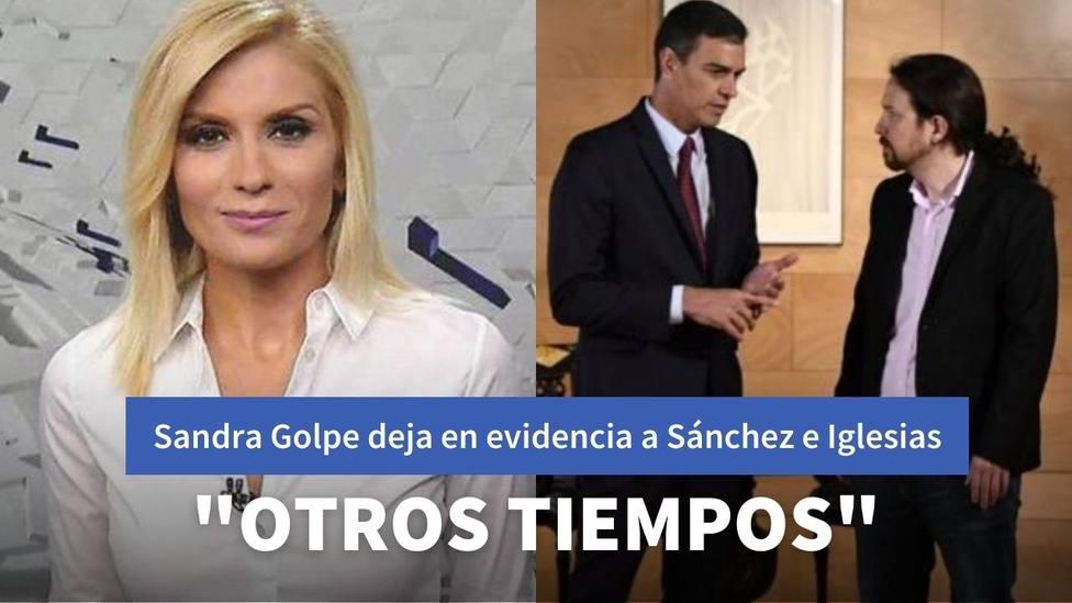 Sandra Golpe deja en evidencia a Sánchez e Iglesias recuperando sus palabras sobre el CGPJ