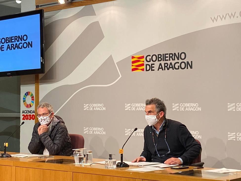 Javier Falo y José María Abad. Coronavirus. COVID. Gobierno de Aragón