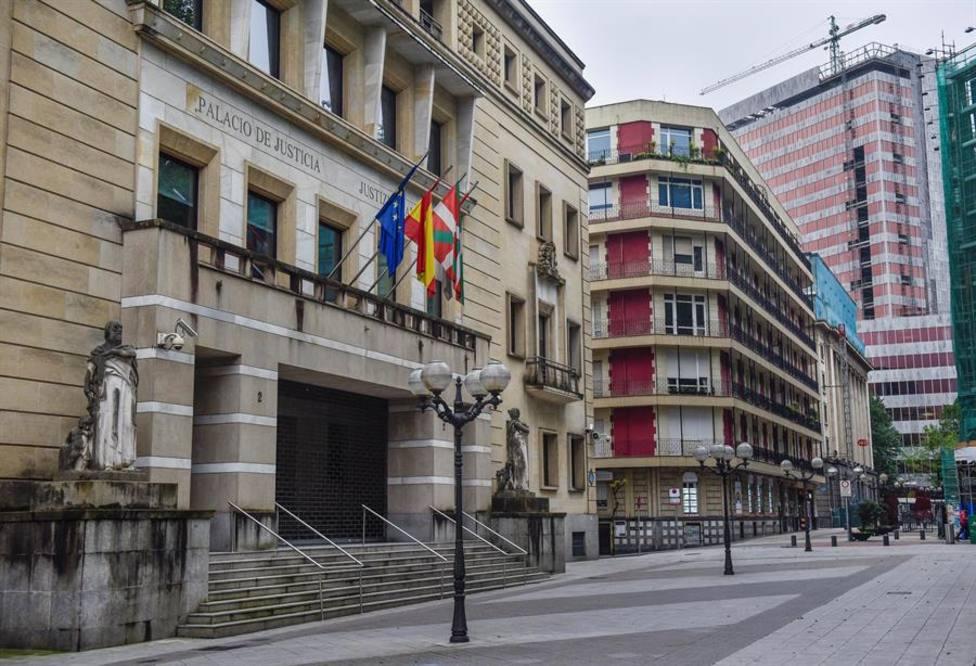 Fachada del Tribunal Superior de Justicia del País Vasco (TSJPV) en Bilbao