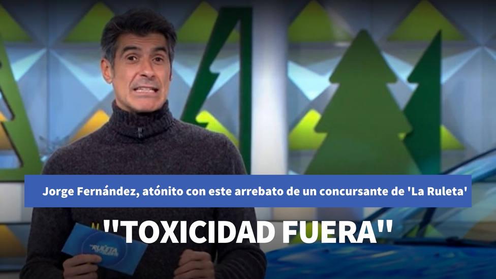 Jorge Fernández, atónito con este arrebato de un concursante de La Ruleta de la Suerte: Toxicidad fuera