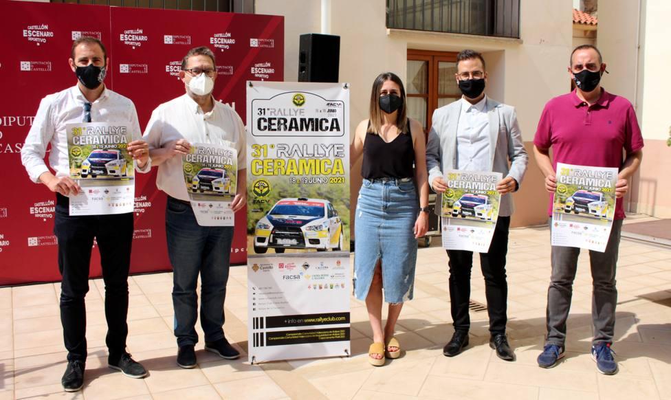 La Diputación de Castellón respalda la XXXI edición del Rallye la Cerámica para reactivar el deporte