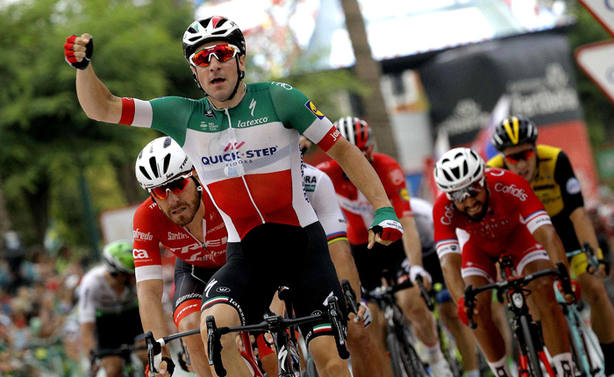 Elia Viviani, ganador de la 3ª etapa de la Vuelta