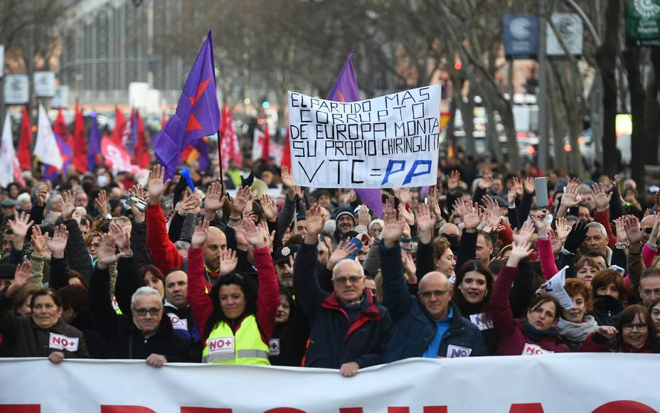 Manifestación taxistas madrileños