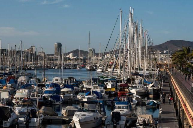 Vista panorámica de Marina Las Palmas
