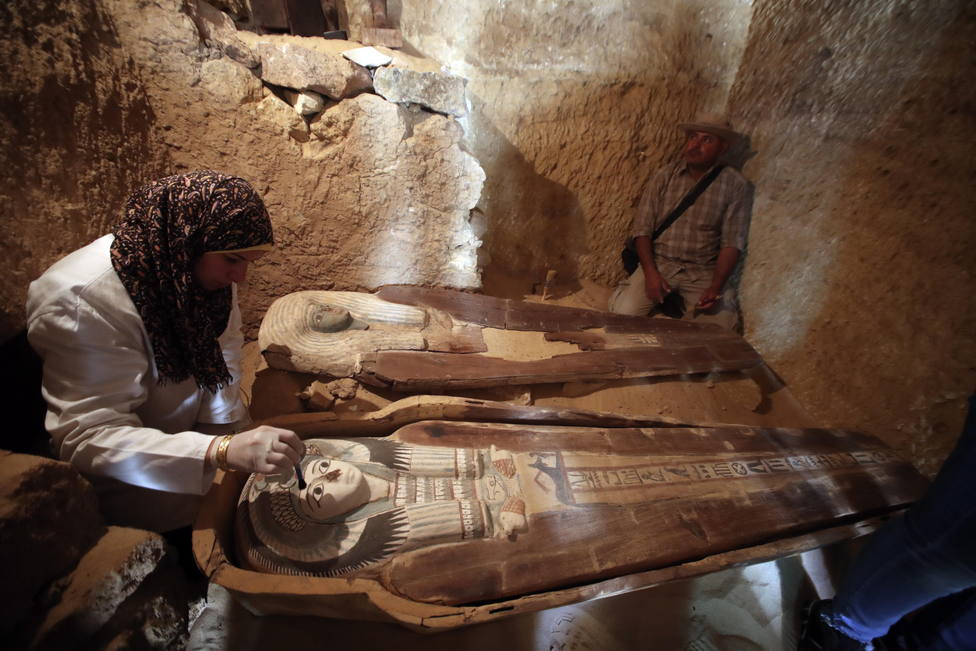 Part of an Old Kingdom cemetery discovered in Giza