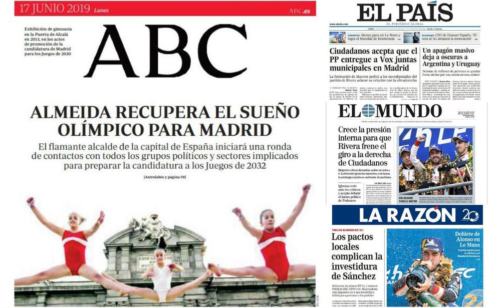 El desconcierto de una facción de Cs por su viraje a la derecha, portada en la prensa nacional