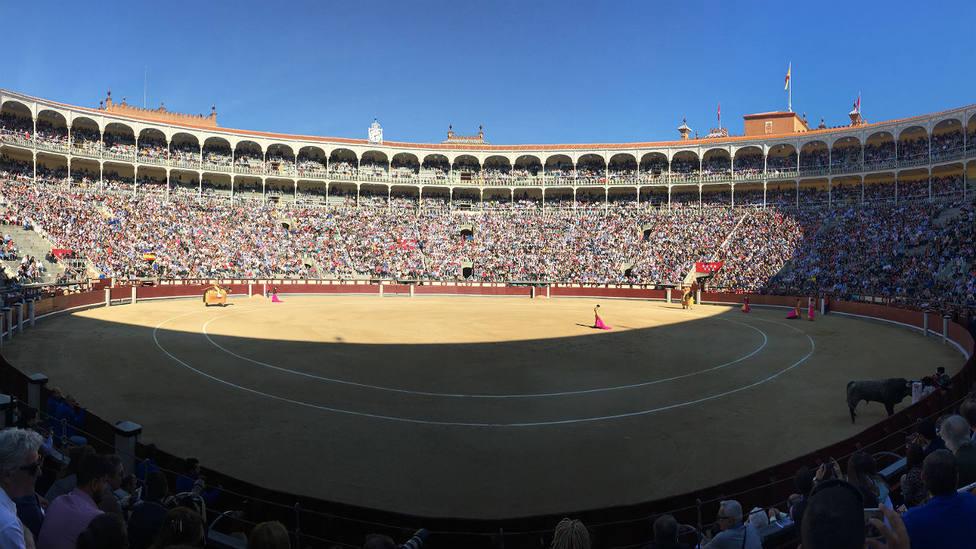 La plaza de toros de Las Ventas durante el festejo del Domingo de Ramos 2019
