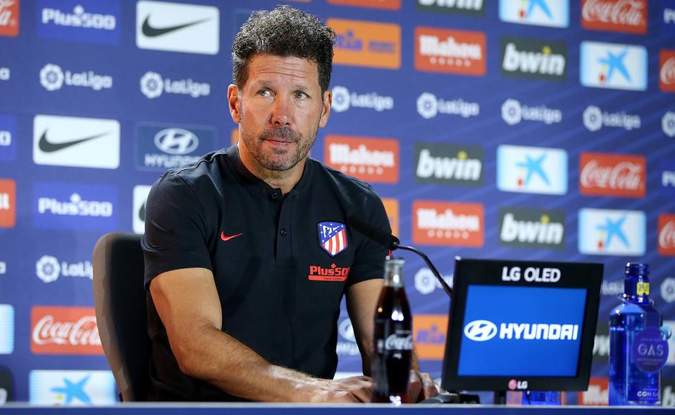 Diego Pablo Simeone, en rueda de prensa