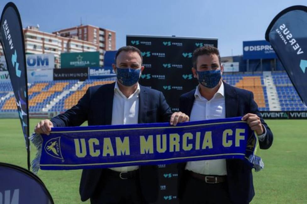 José María Salmerón y José Luis Mendoza García en La Condomina