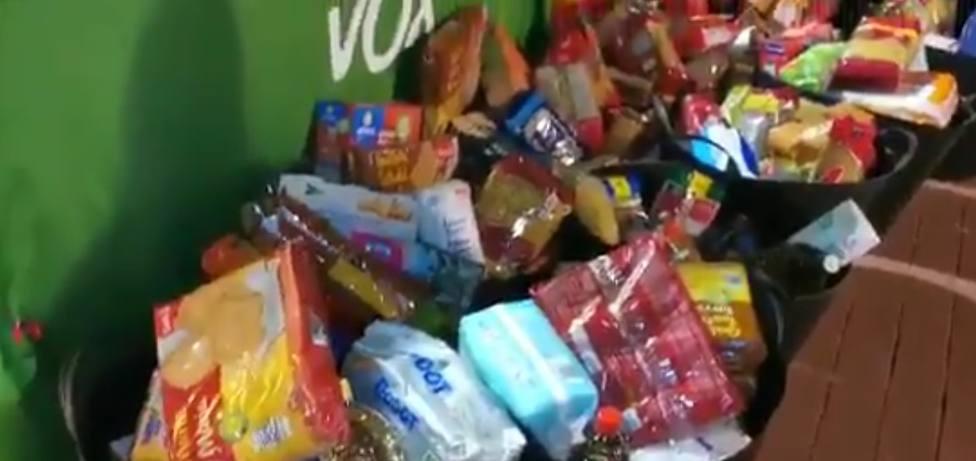 Recogida de alimentos de Vox en Almendralejo (Badajoz)