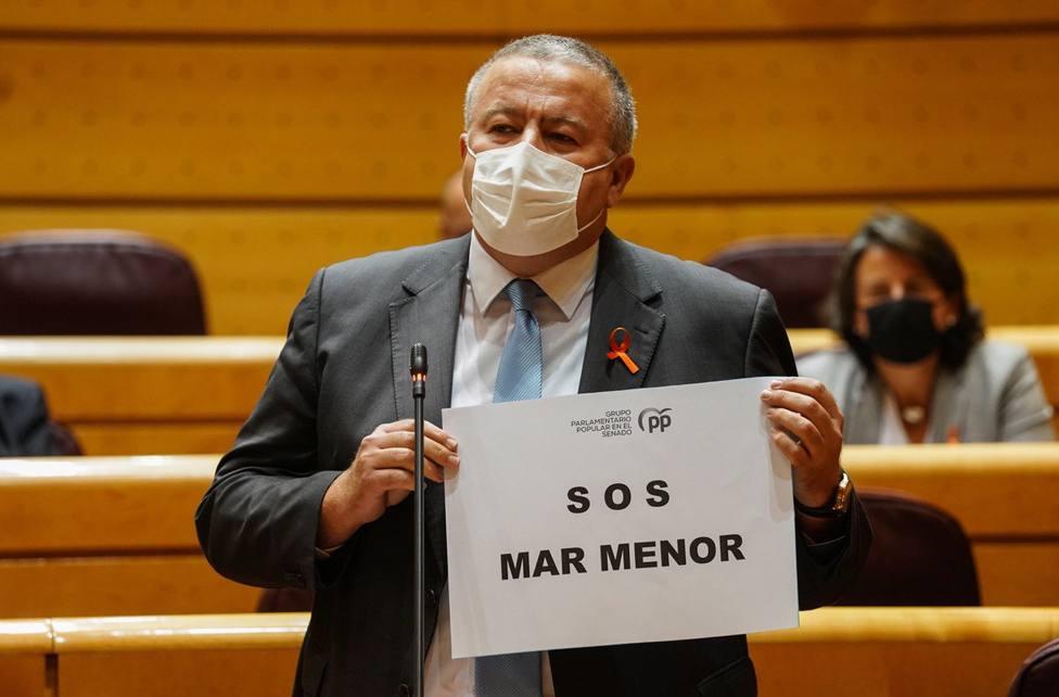 Bernabé denuncia que el Mar Menor no aparece ni una vez en los Presupuestos Generales del Estado