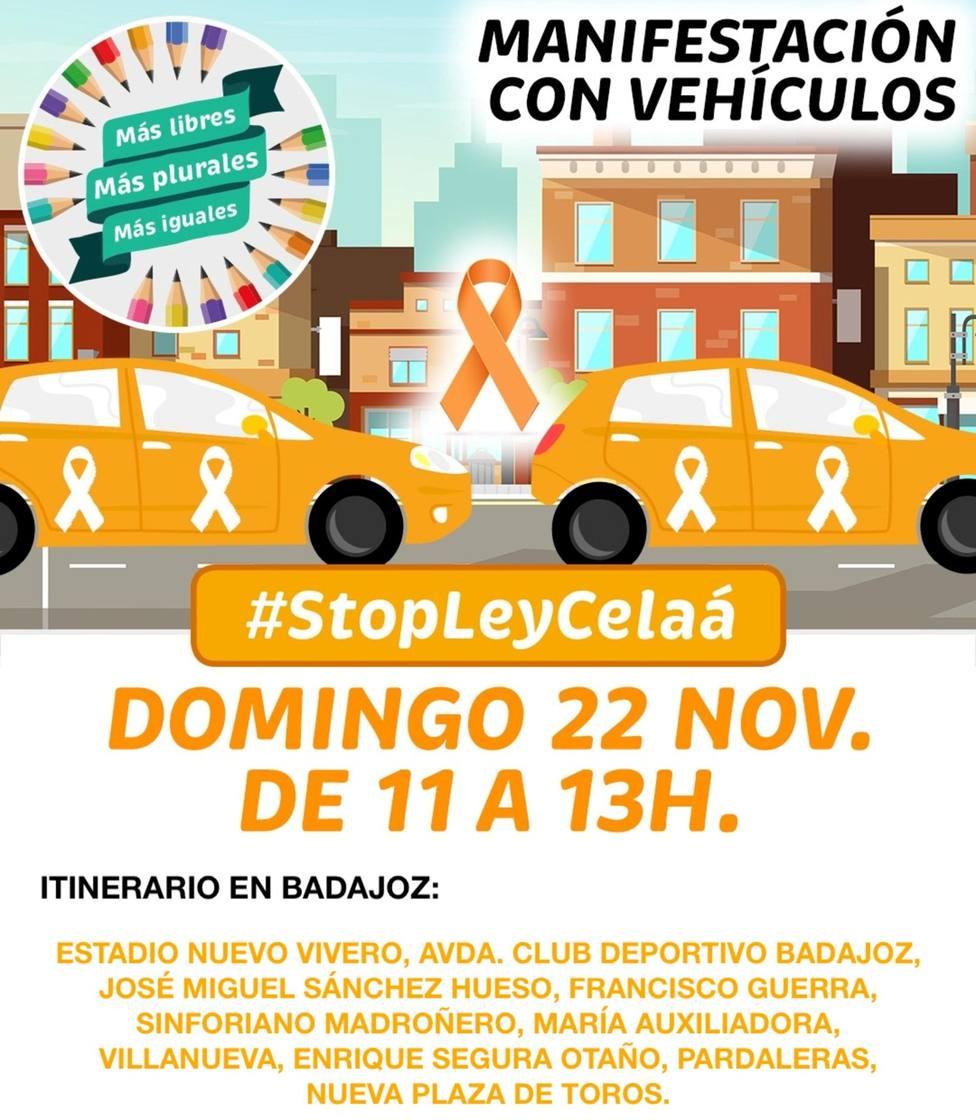 Itinerario caravana Mas Plurales en Badajoz