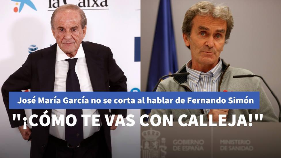José María García habla alto y claro sobre Fernando Simón: ¡Cómo te vas a con Calleja con la que cae!