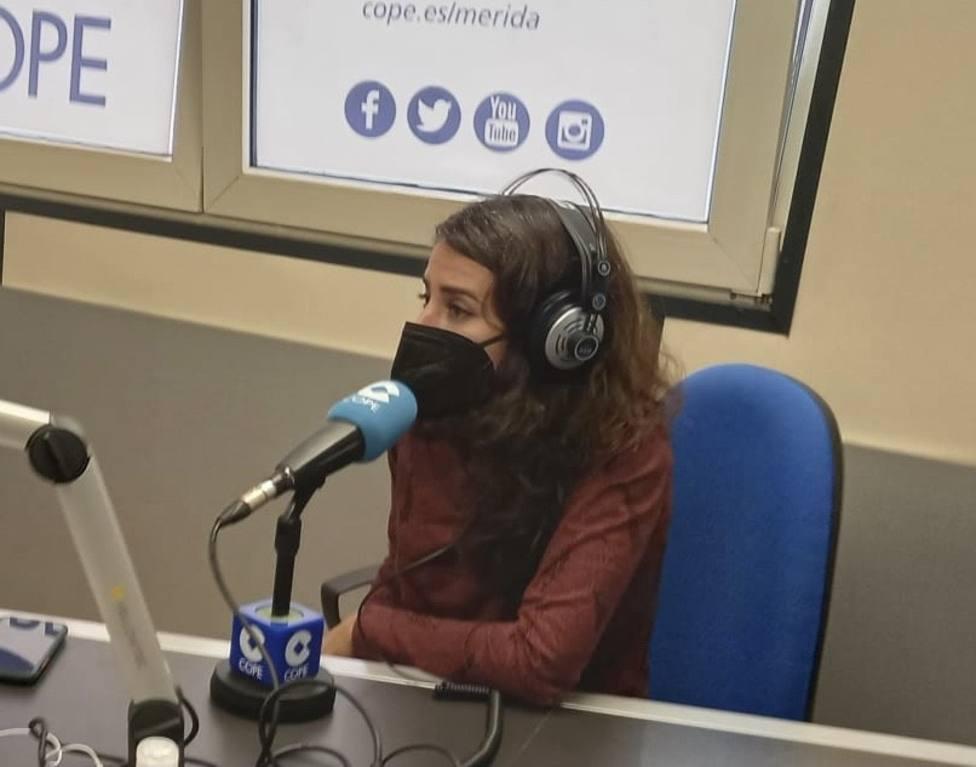 Irene de Miguel, coordinadora de Unidas Podemos Extremadura y pta de Unidas por Extremadura en la Asamblea
