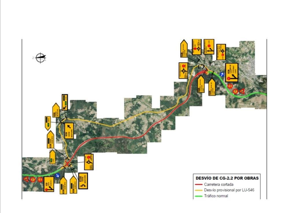 El desdoblamiento en autovía obligará a cortes puntuales en el corredor Nadela-Sarria
