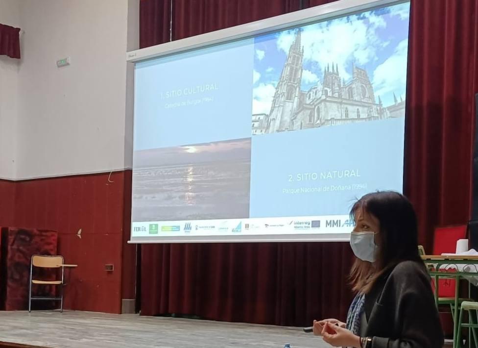 Los institutos acogen el programa divulgación de la candidatura de Ferrol a Patrimonio Mundial. FOTO: Concello
