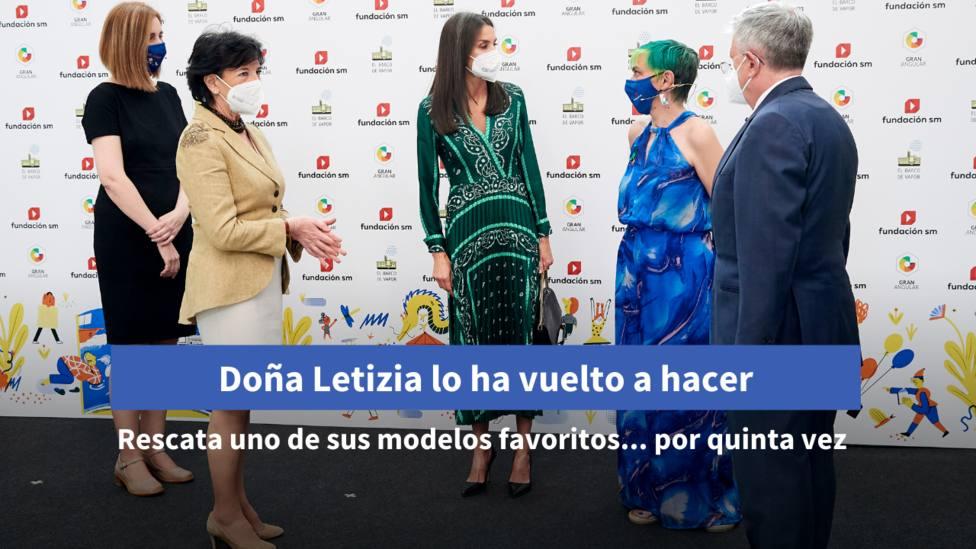Doña Letizia lo ha vuelto a hacer: Repite uno de sus modelos favoritos... !Por quinta vez¡