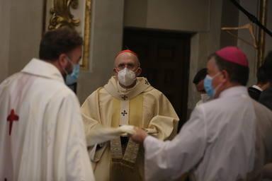 Misa en la Colegiata de San Isidro con motivo de la festividad del patrón de Madrid