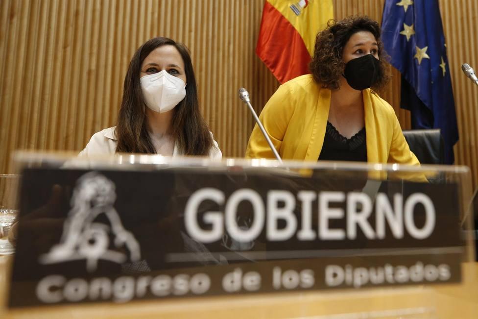 La ministra de Derechos Sociales y Agenda 2030, Ione Belarra comparece en el Congreso