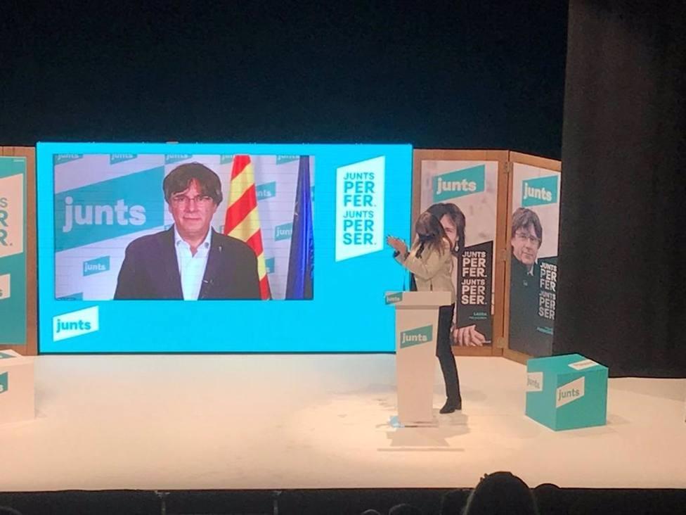 AMP.- 14F.- Puigdemont apela a conquistar una triple mayoría con Junts como garantía independentista