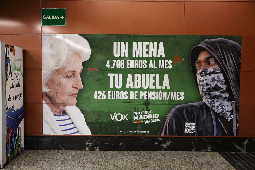 La Audiencia de Madrid refrenda el cartel de Vox contra los menas al afectar a un evidente problema social y