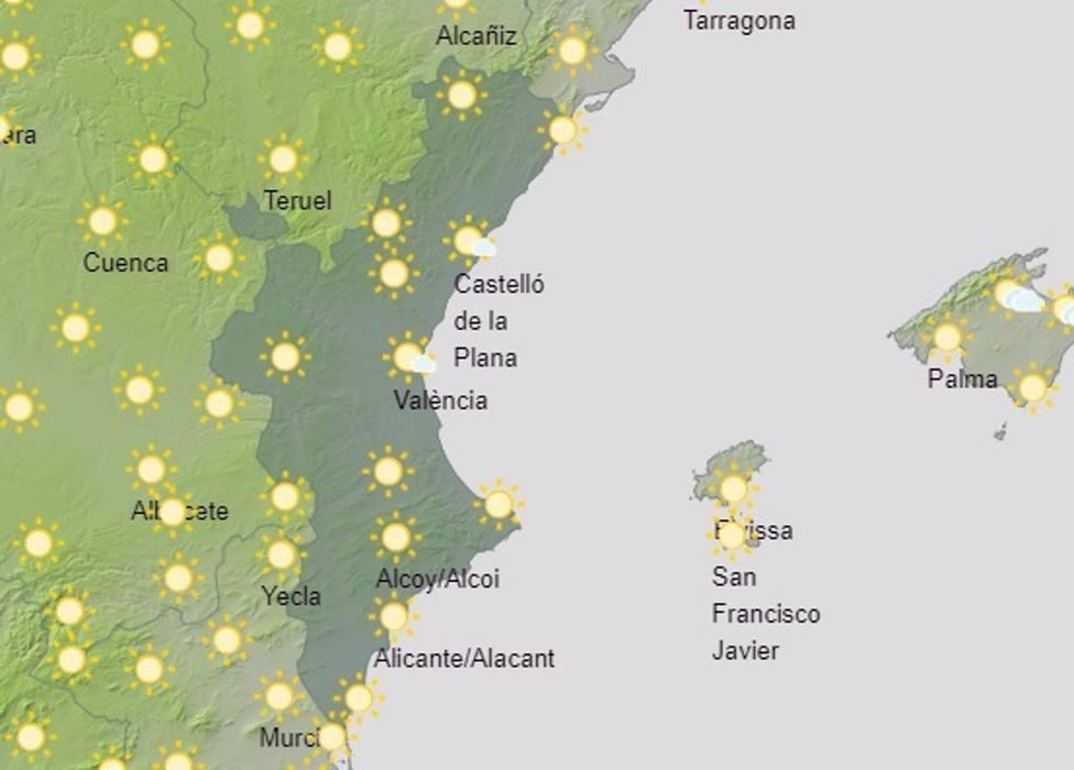 Temperaturas máximas de hasta 36º este sábado en la zona occidental de Valencia