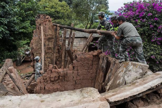 Un seísmo de 5,9 grados afecta la provincia meridional china de Yunnan
