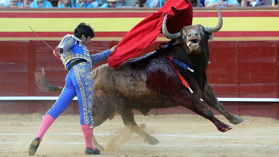 Alberto Lamelas ante un toro del Conde de la Maza en Cenicientos