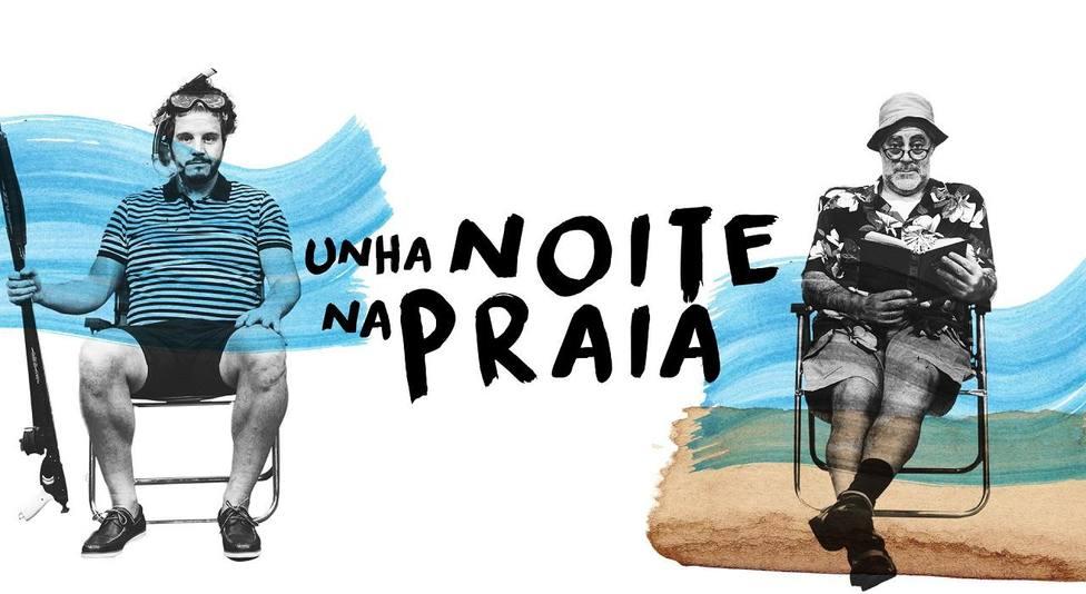 Cartel de la obra Unha noite na praia de Carlos Blanco y Touriñán