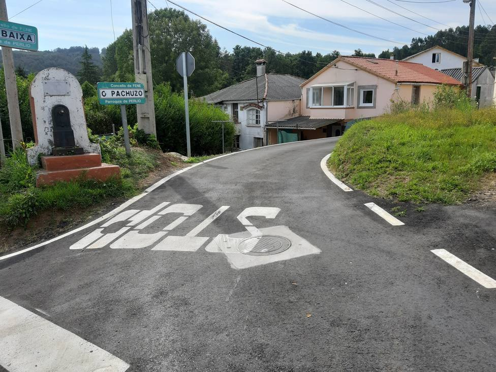 Zona de actuación en la parroquia de Perlío - FOTO: Concello de Fene