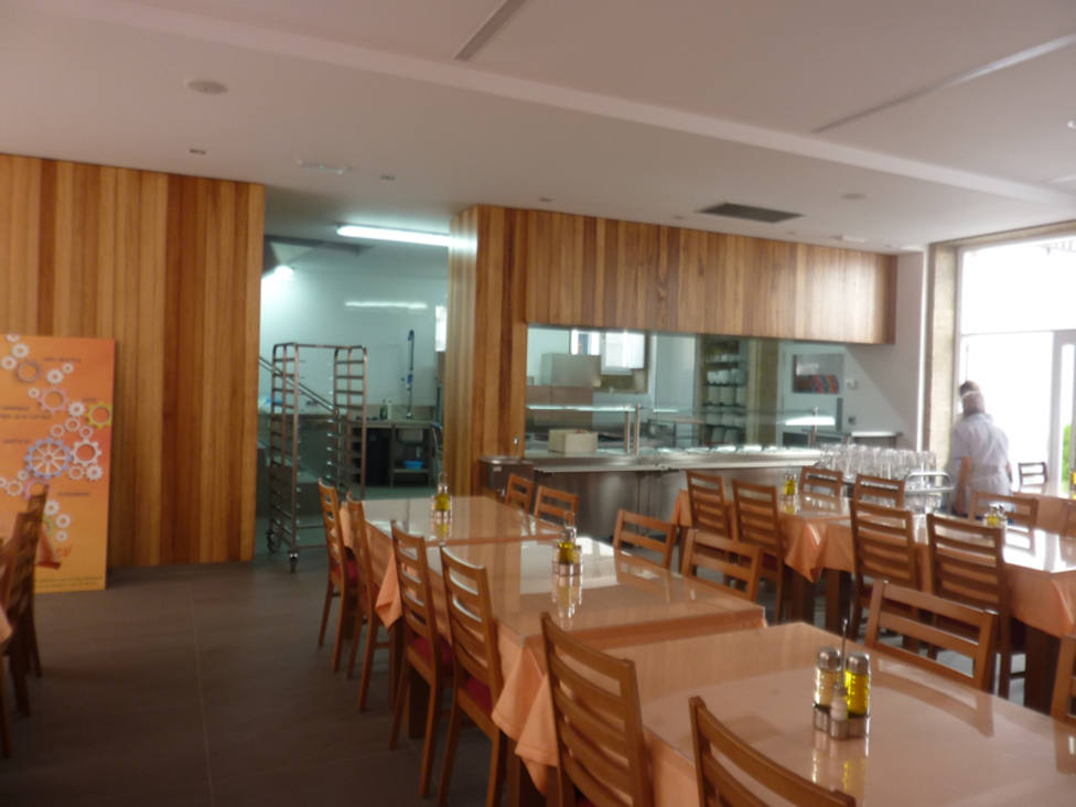 Las instalaciones de la Cocina económica de Santiago