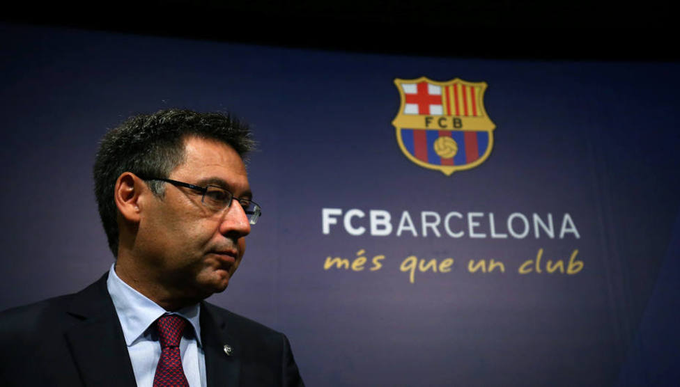 El presidente del F.C. Barcelona, Josep Maria Bartomeu
