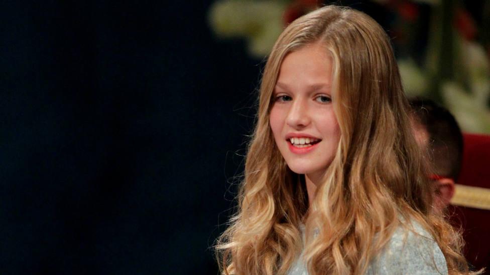 La princesa Leonor durante su discurso en los Premios Princesa de Asturias