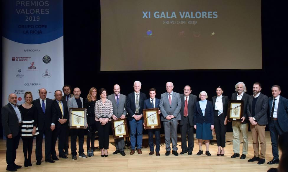 El Grupo COPE La Rioja entrega los XI Premios Valores en una gala de la gente-gente