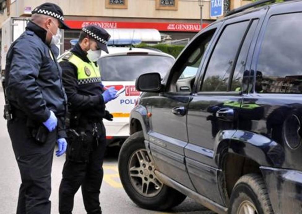 Controles de la Policía Local por el coronavirus.