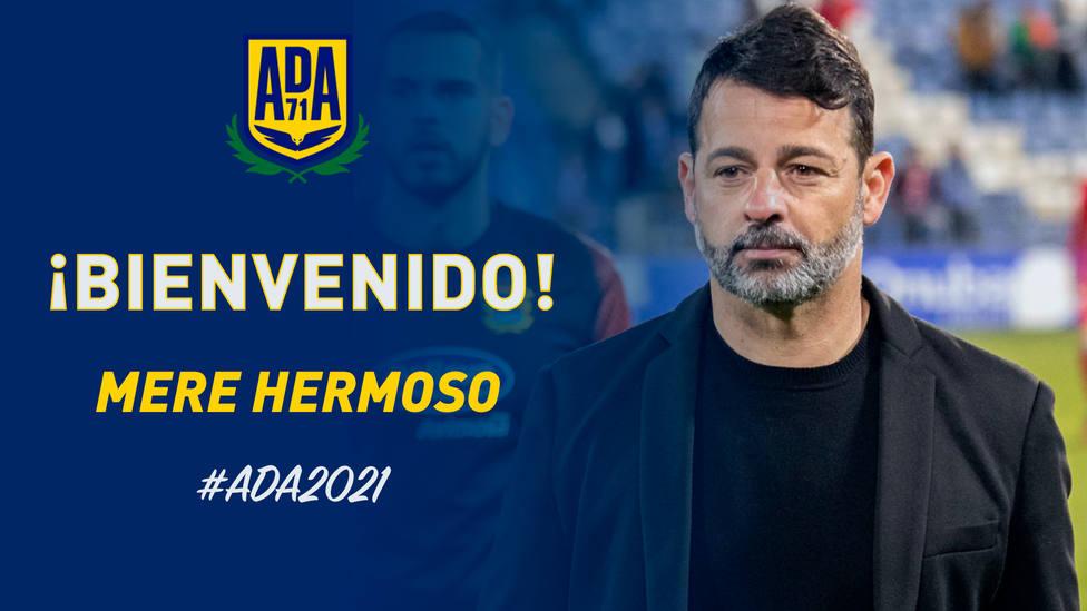 Mere Hermoso, nuevo entrenador de la A.D. Alcorcón.