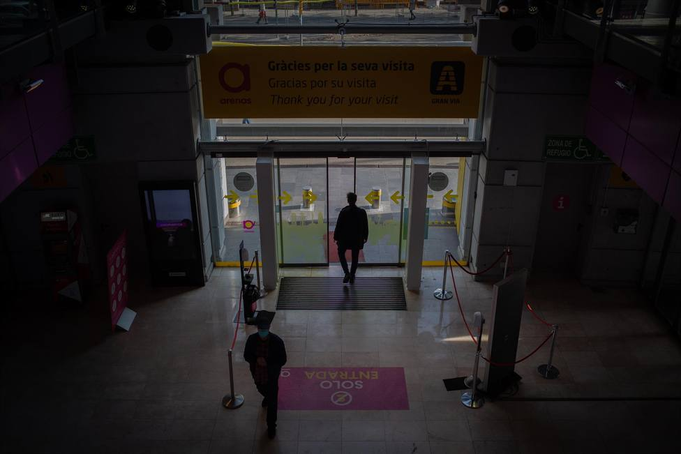 Entrada al Centro Comercial Las Arenas en Barcelona