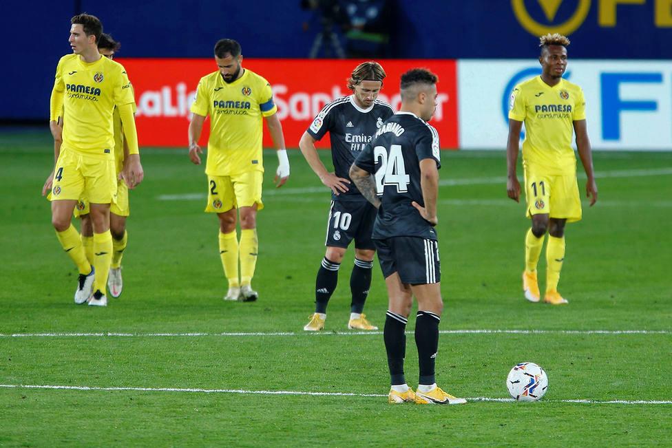 Mariano y Modric, tras el empate del Villarreal (EFE)