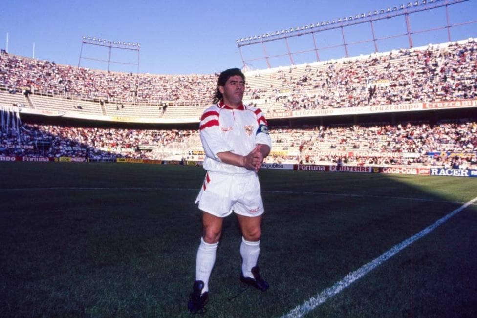 Maradona solo jugó oficialmente en el Sevilla, donde dejó mil anécdotas.