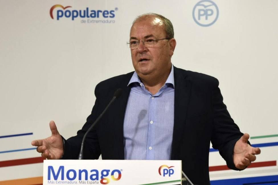 José Antonio Monago, presidente del PP de Extremadura