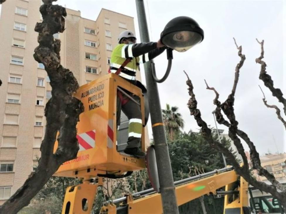 Murcia dejará de emitir casi 20 millones de kilos de CO2 a la atmósfera gracias al nuevo alumbrado