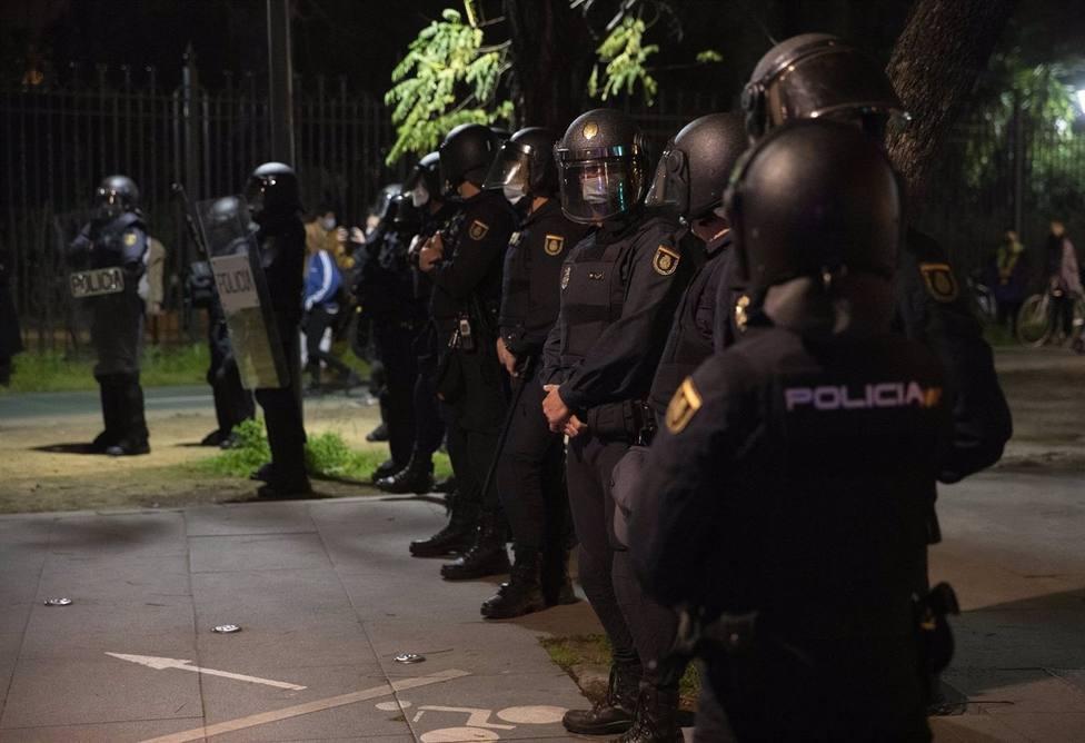Agentes de la Policía Nacional en un despliegue este semana.