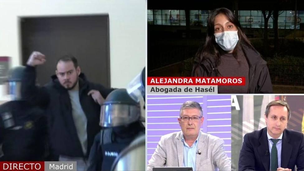 Un colaborador de Joaquín Prat frena en seco a la abogada de Hasél por su actitud: No te lo voy a permitir